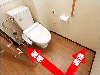 トイレの広さを知っておきましょう